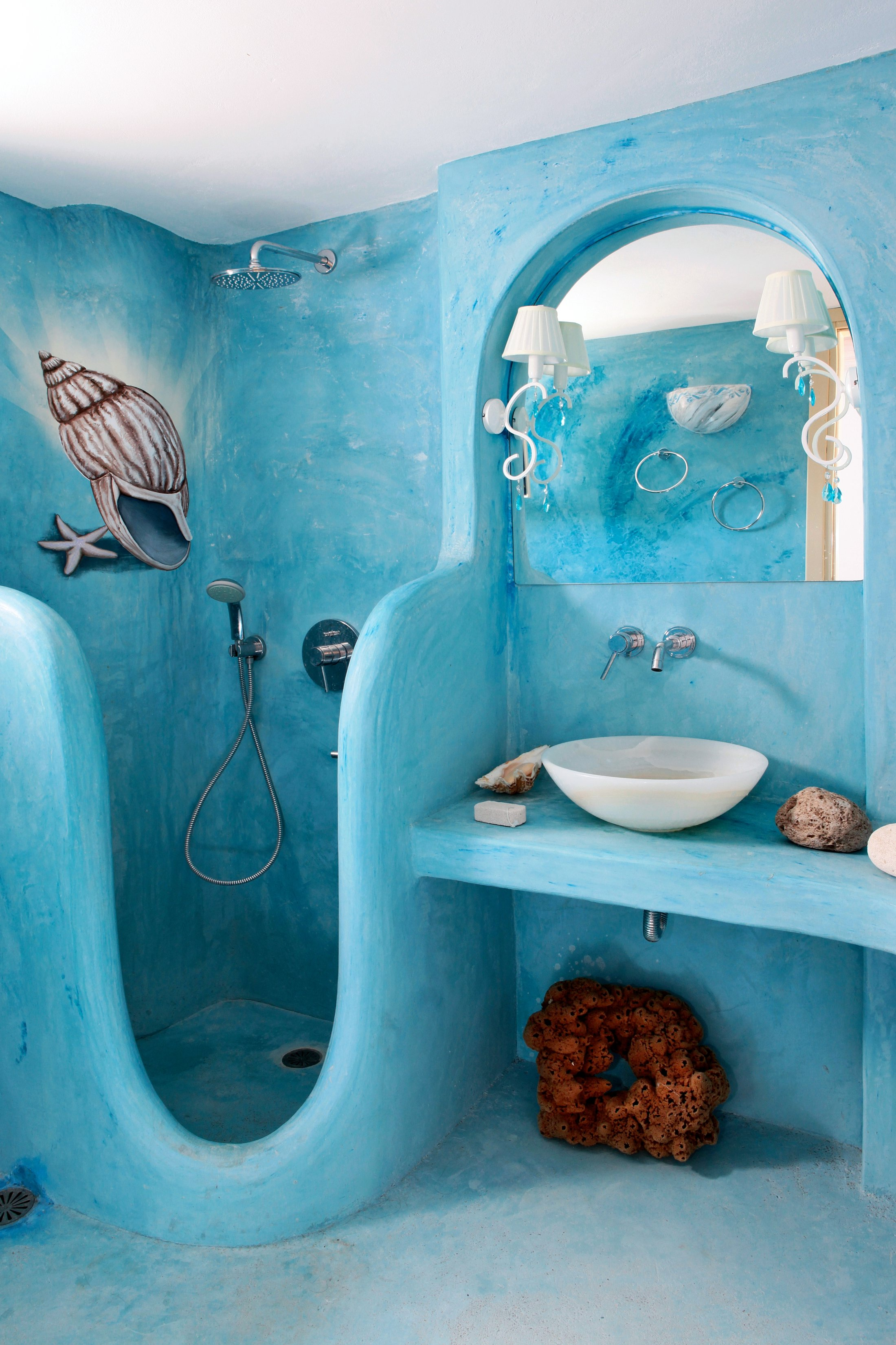 Интерьер в ванной в морском стиле фото
