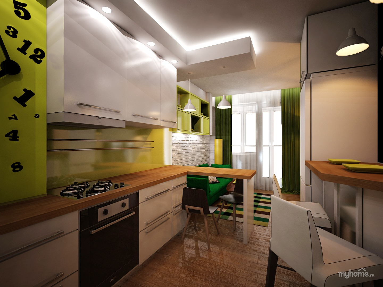 Дизайн кухни 16 кв м с островом