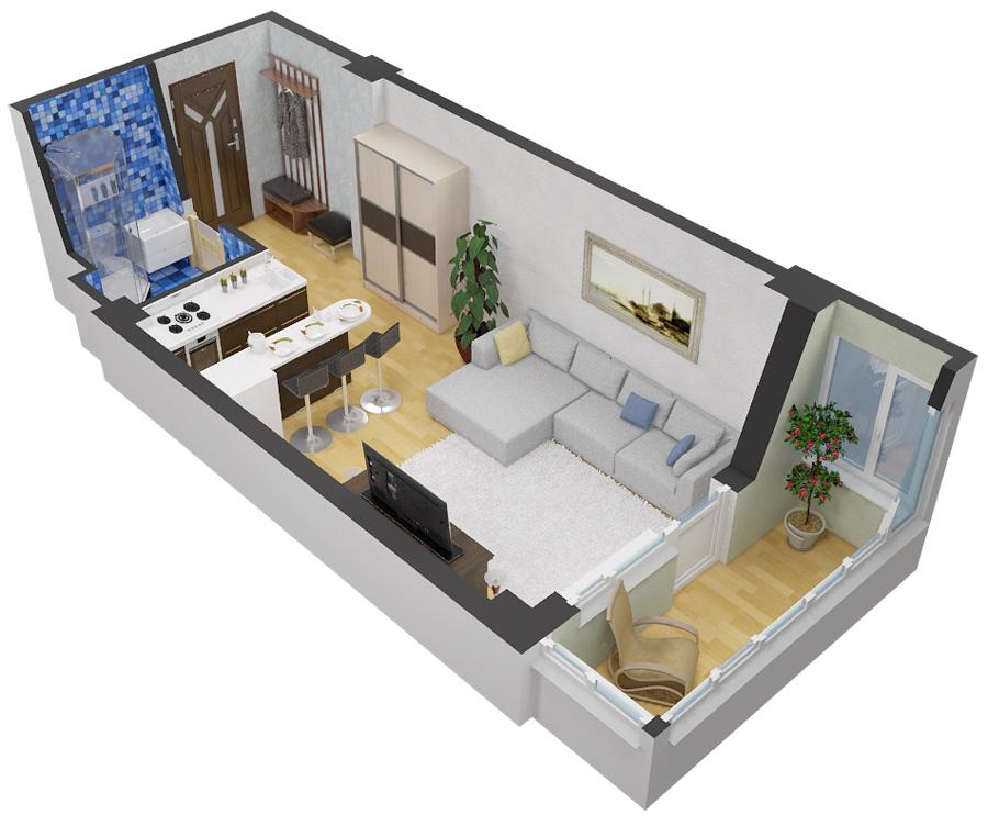 Дизайн детской комнаты 10 м2 38