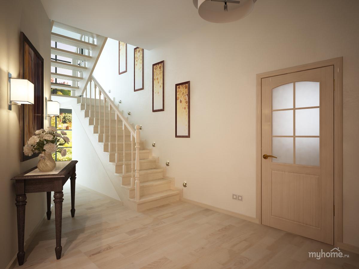 Дизайн двухэтажного частного дома внутри