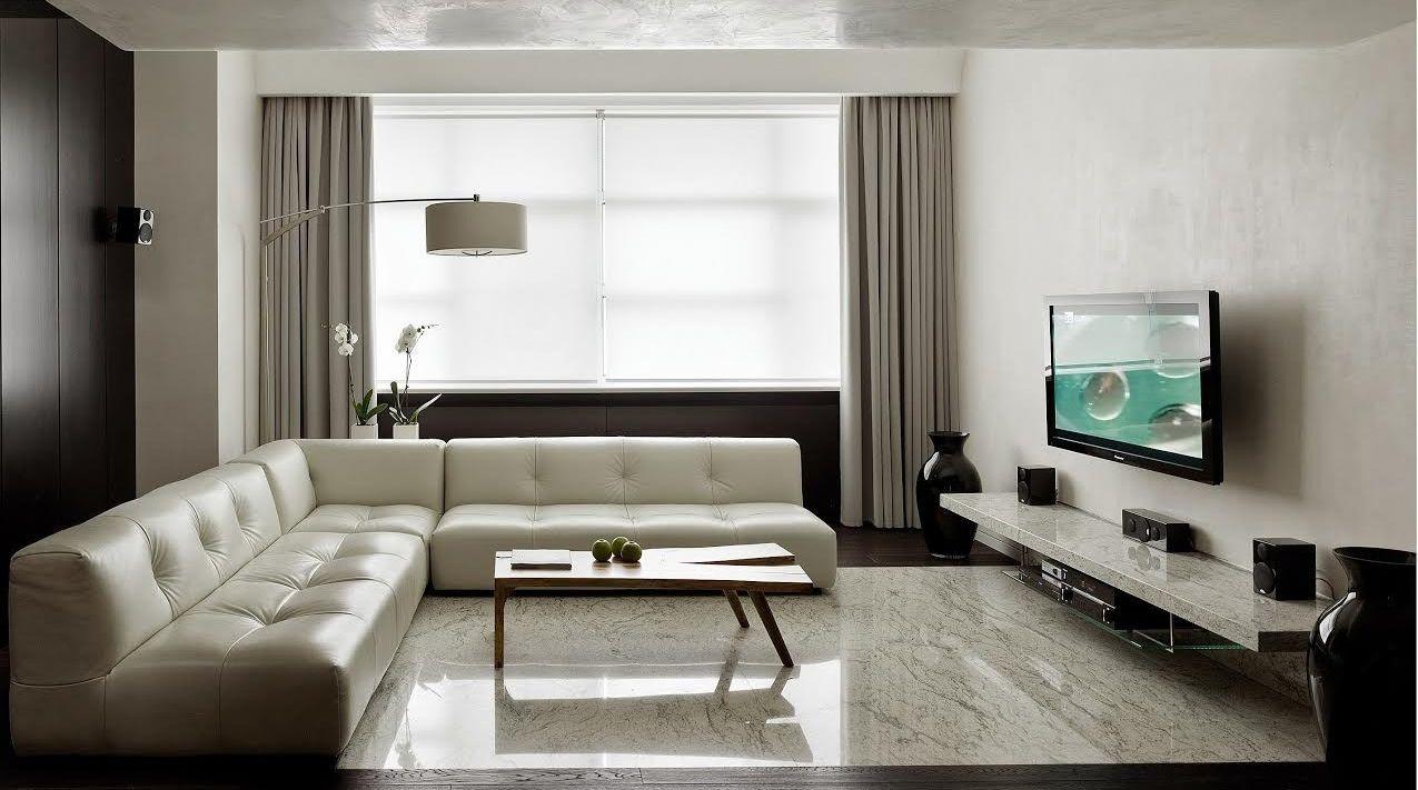 Стиль минимализма дизайн гостинной