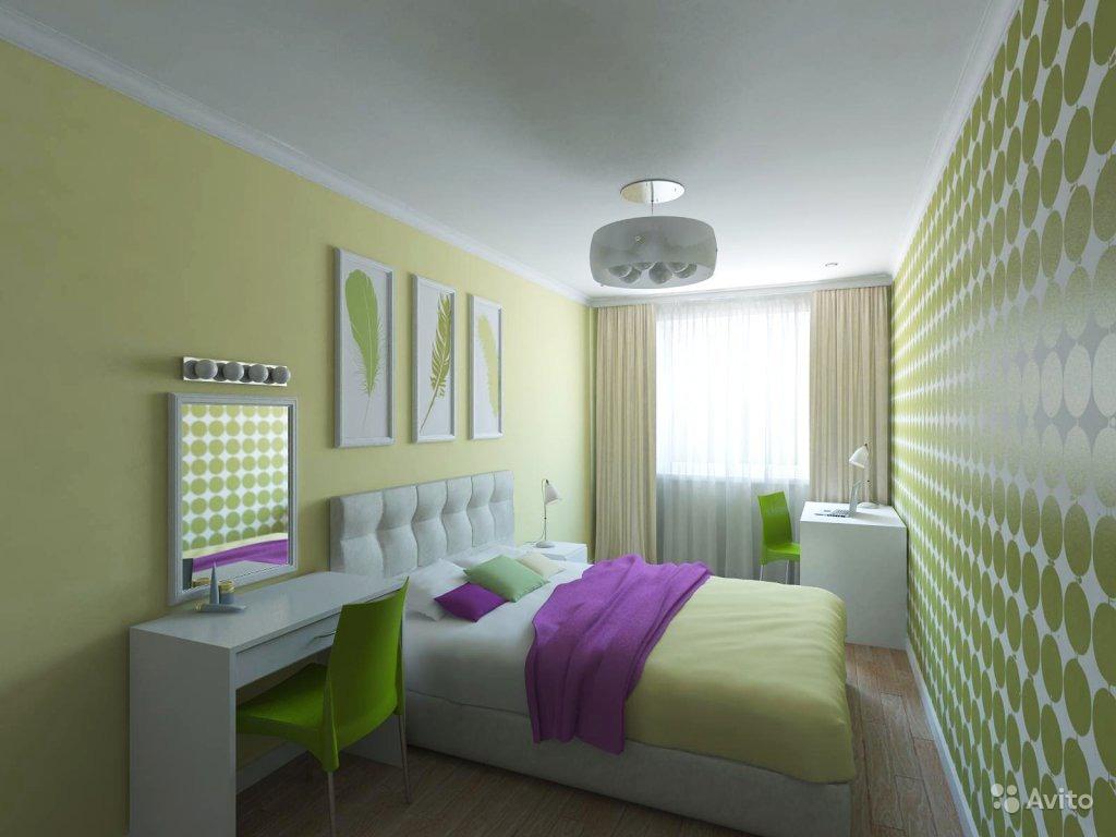 """Дизайн маленькой спальни хрущевки """" современный дизайн."""