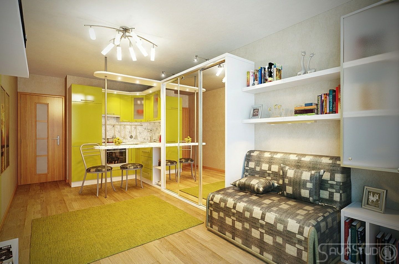 Интерьеры маленьких однокомнатных квартир фото