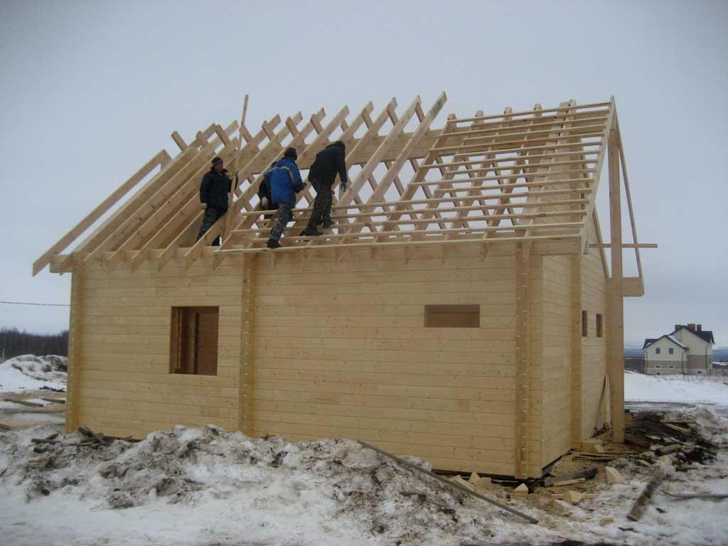 Как сделать крышу для бани из бруса