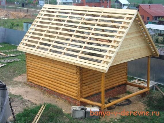 Как правильно построить крышу на бане своими руками