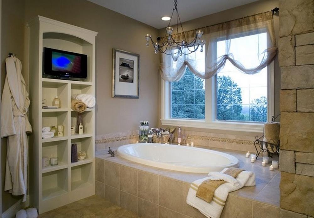 Интерьер ванной комнаты с окном фото в современном стиле