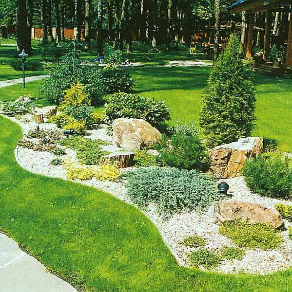 Ландшафт двора дома своими руками
