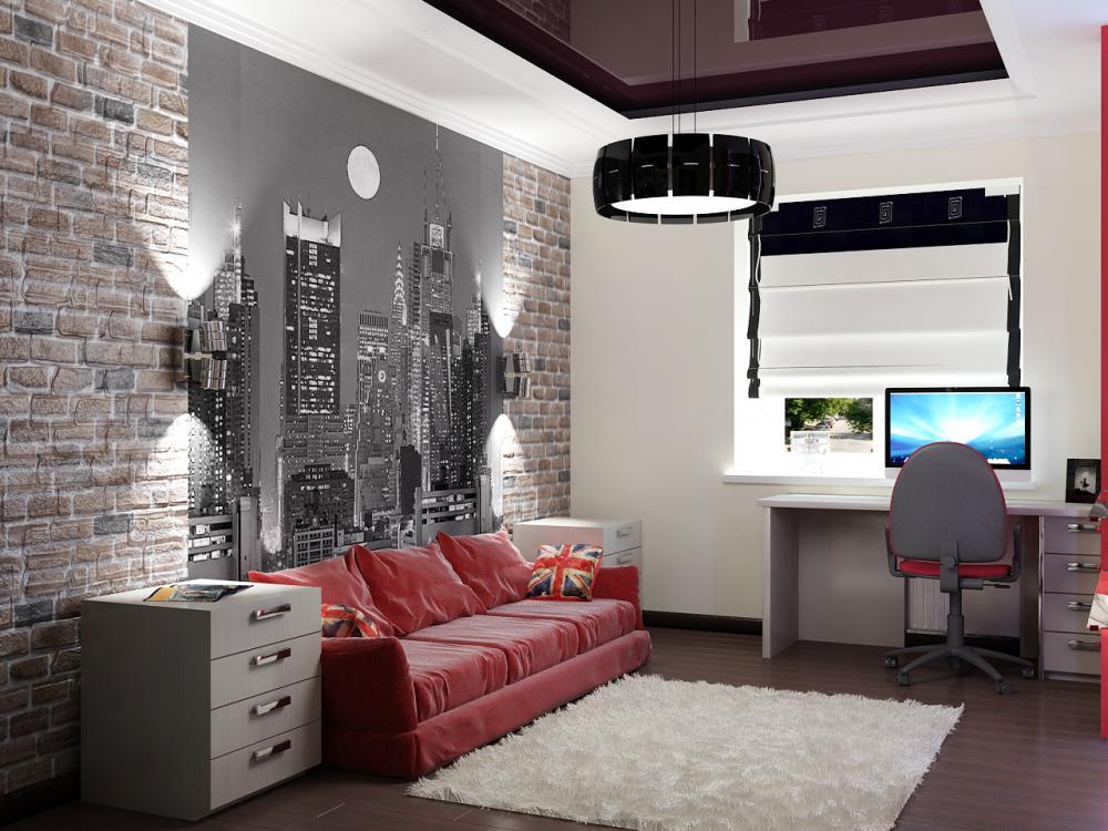 Подростковые комнаты для мальчика дизайн