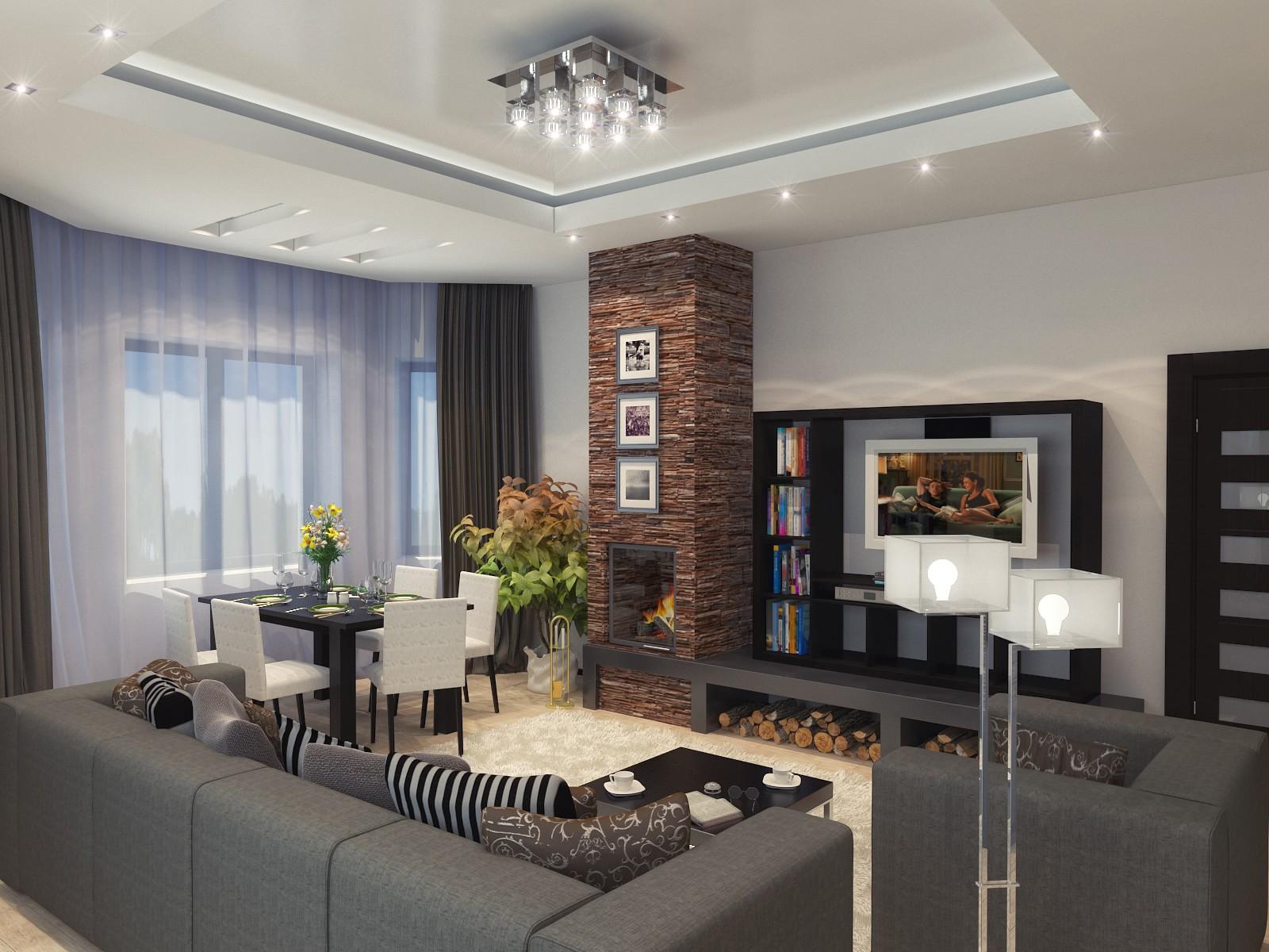 Дизайны гостиных в доме