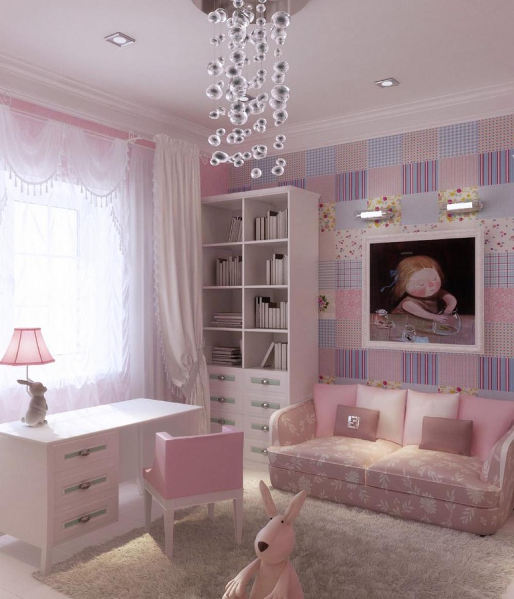 Интерьер детские комнаты для девочек фото