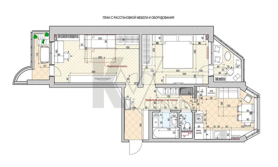 Дизайн квартир проекта п 44т
