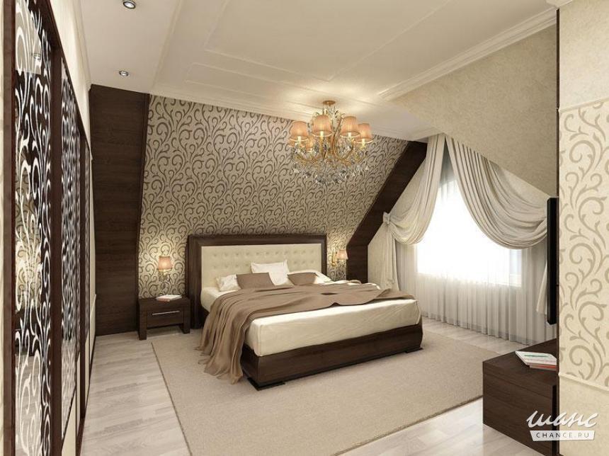Спальня дизайн интерьер мансарда