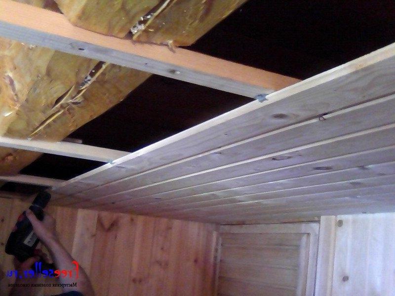 Потолок как сделать доскам