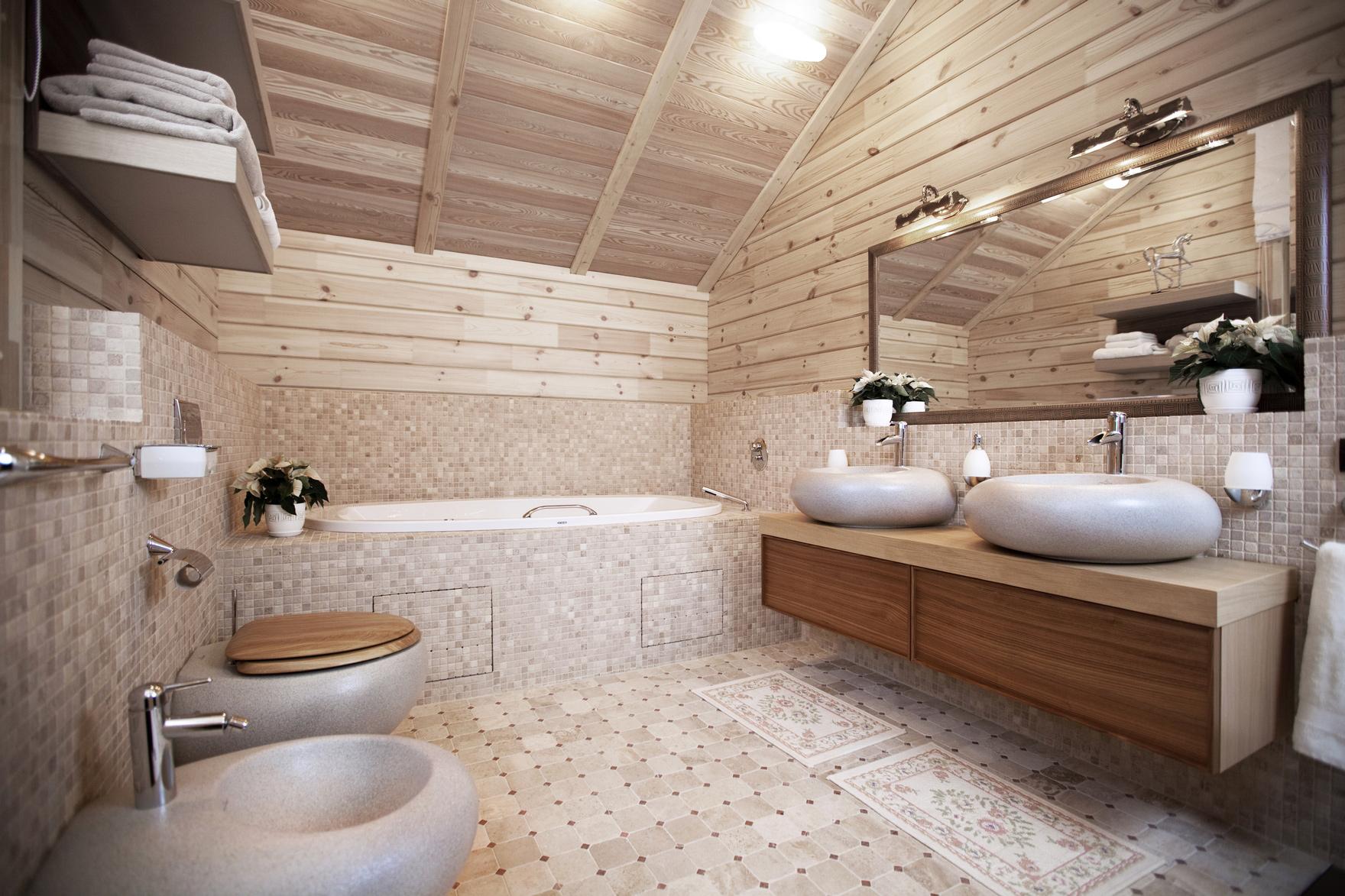 Дизайн душевых в бане 131