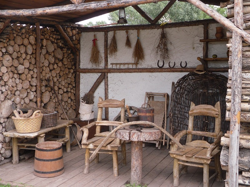 Ландшафтный дизайн в деревенском стиле