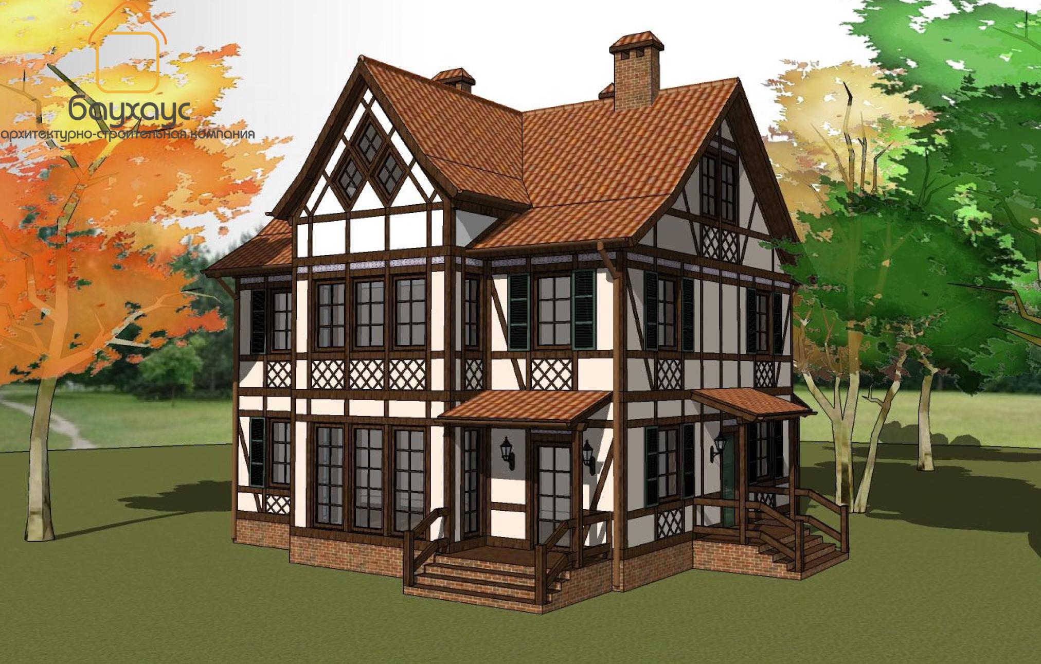 Как сделать немецкий фасад дома 156