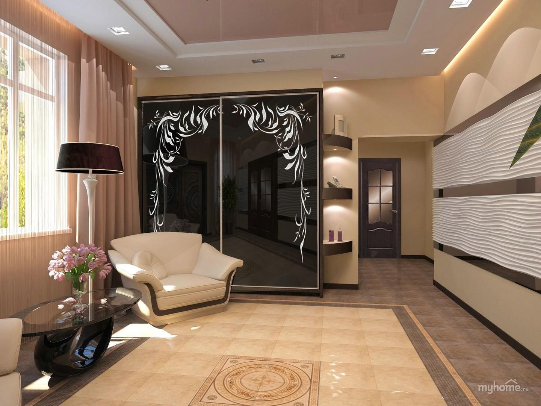 Дизайн квартиры в бежево-коричневых тонах