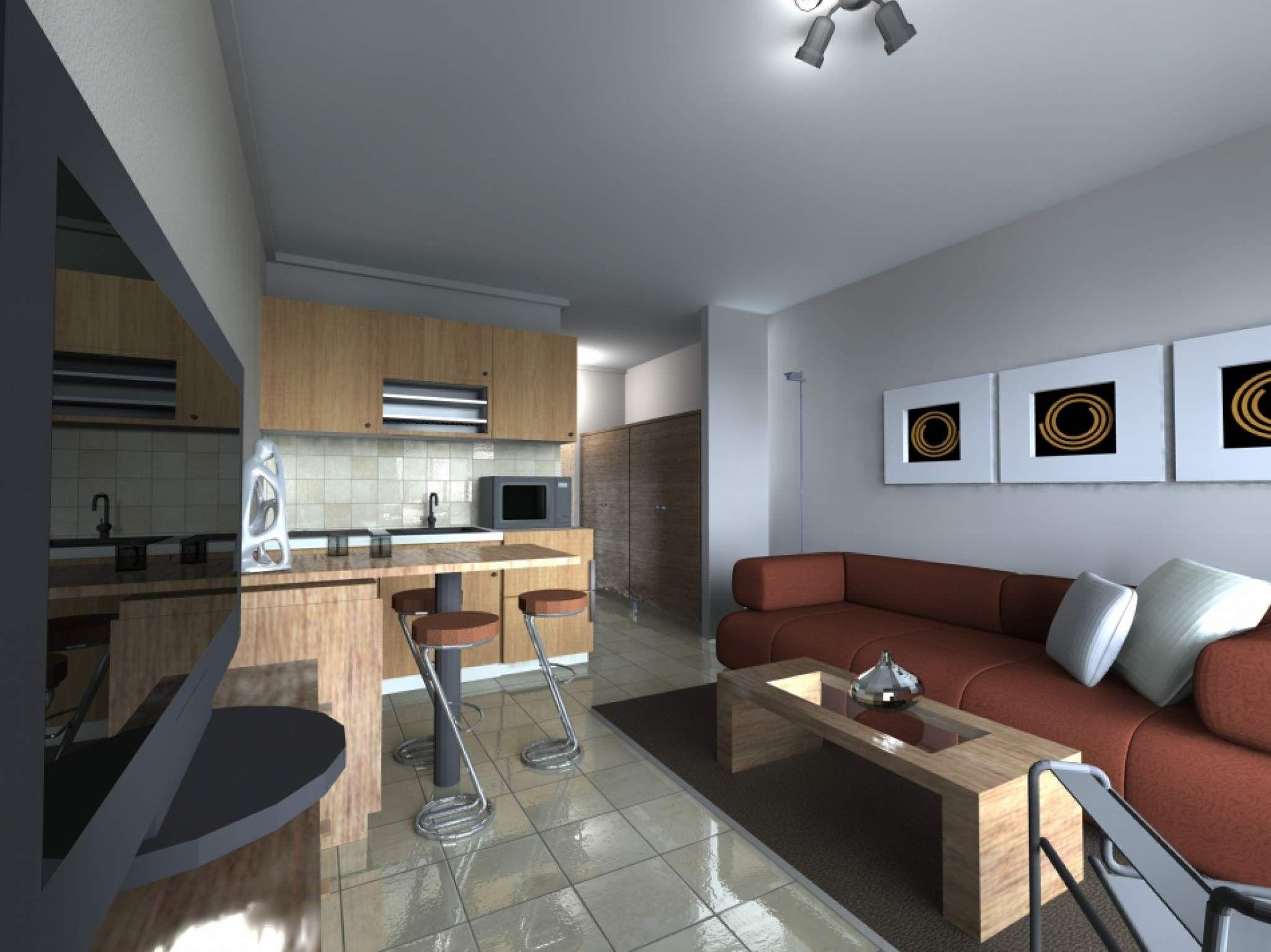 """Дизайн однокомнатной квартиры 40 кв.м с балконом """" современн."""