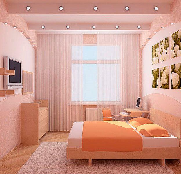 Фото идеи ремонта для маленькой спальни