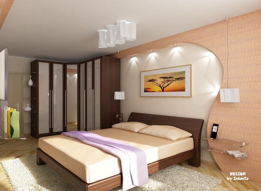 Дизайн комнаты 22 кв.м спальня