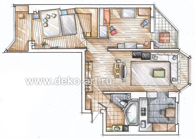 Дизайн типовых квартир concept art & design.