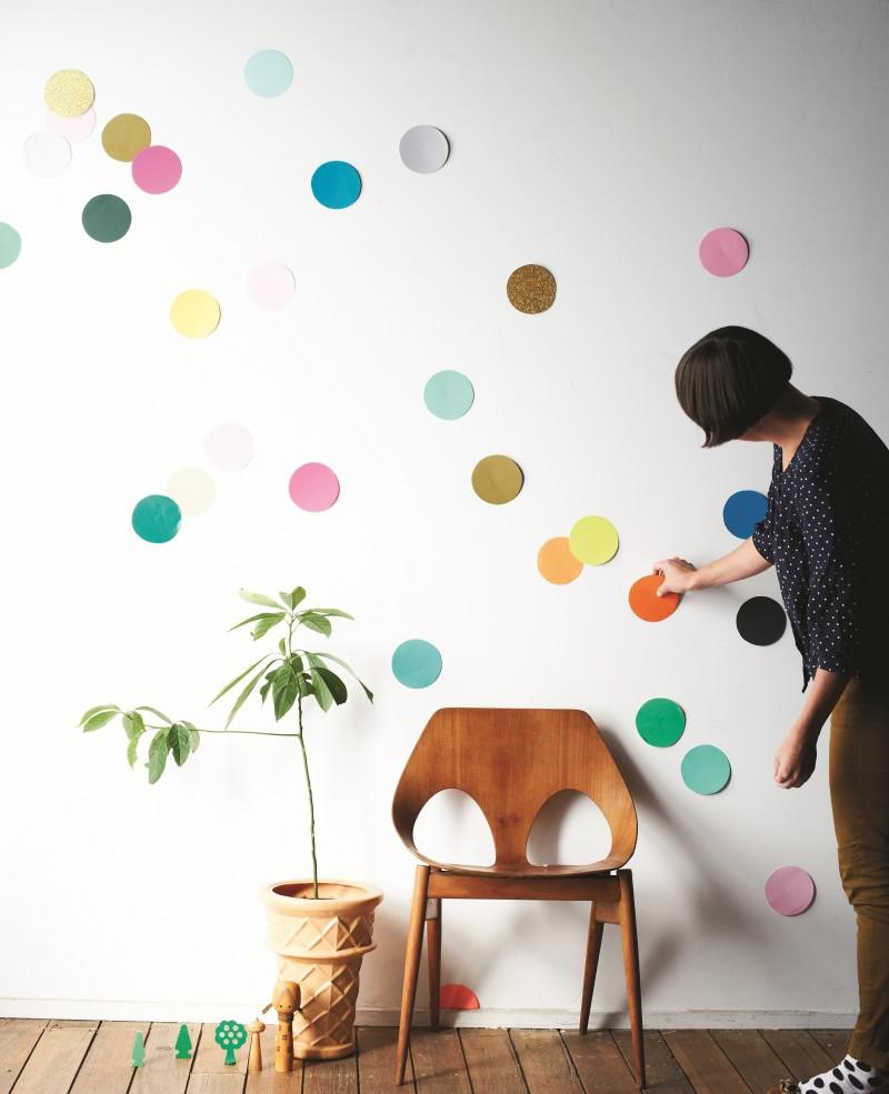 Как разрисовать стены своими руками 73
