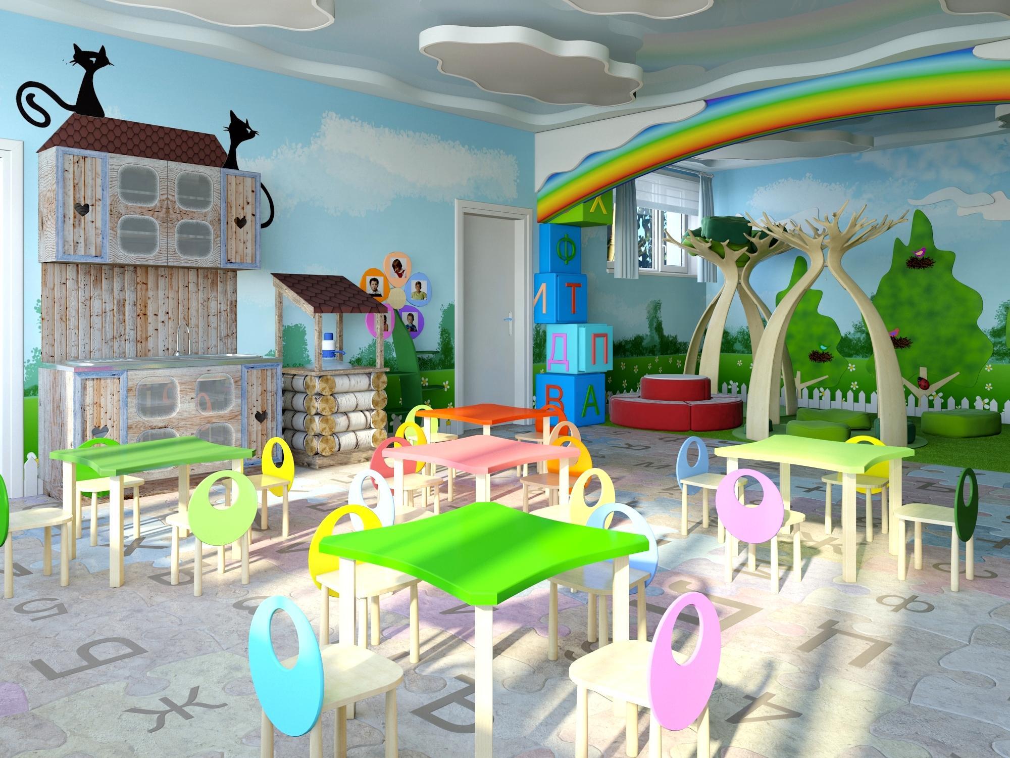 Дизайн интерьера в детском саду