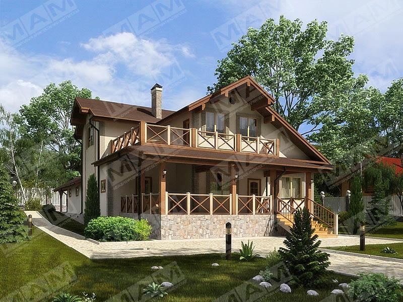 """Фото двухэтажных домов с террасой """" современный дизайн."""