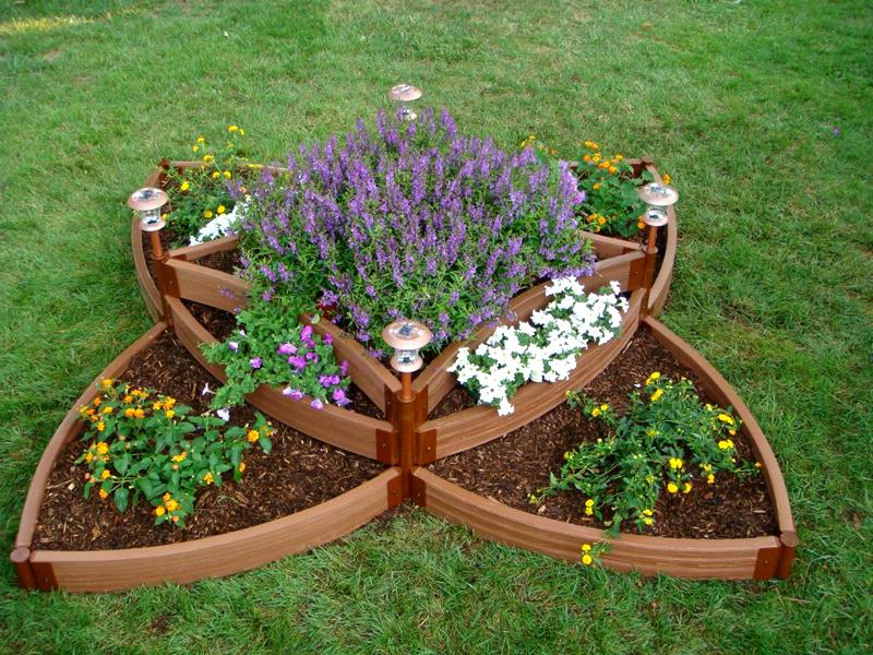 Идеи клумбы для сада своими руками