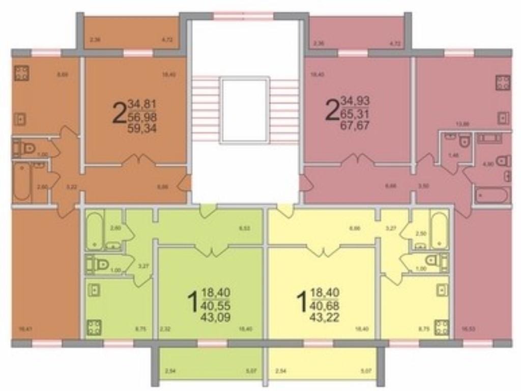 схема однокомнатной квартиры 97 серия