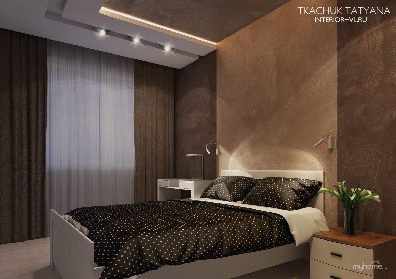 Фото дизайн спальни в шоколадных тонах