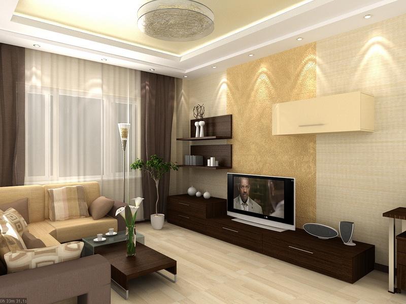 Ремонт квартир зала дизайн реальные