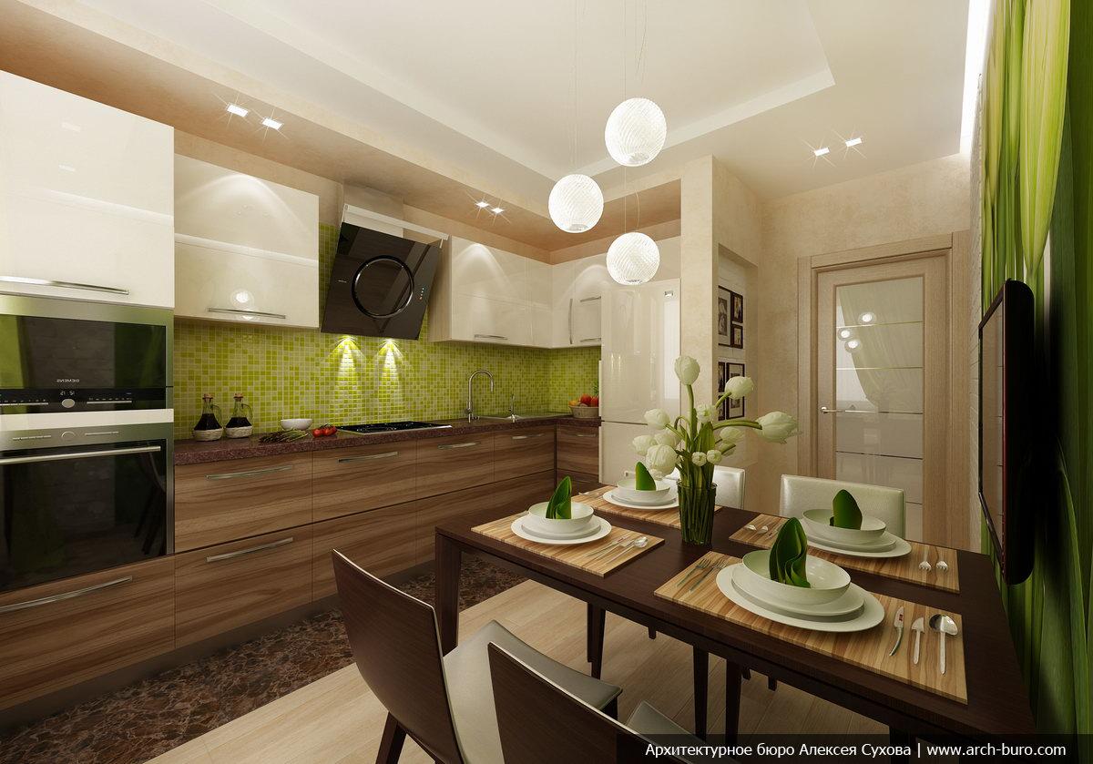 Дизайн кухни 9 метров в стиле прованс