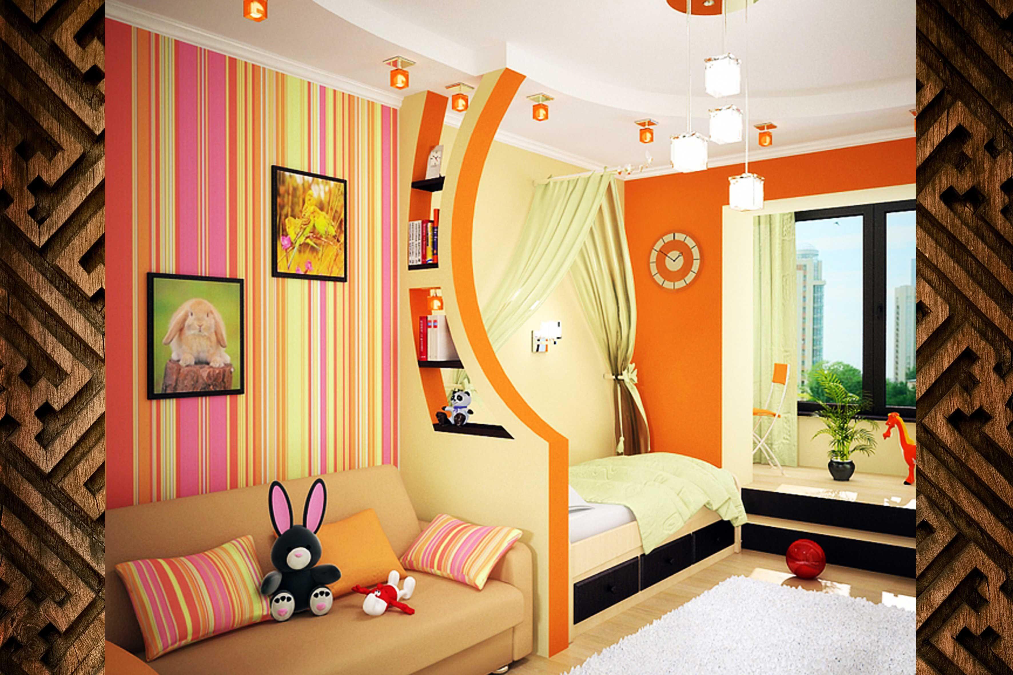 Дизайн детской комнаты для девочки 12 кв.м (фото). enremo.ru.
