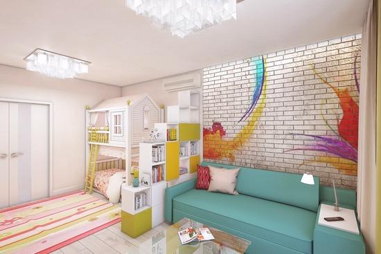 Дизайн комнат спальня плюс детская