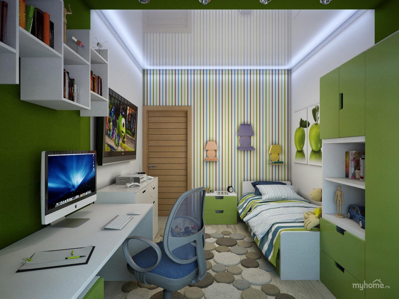 Дизайн комнаты подростка 9 кв.м