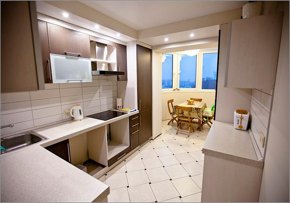 Соединили балкон и кухню дизайн.