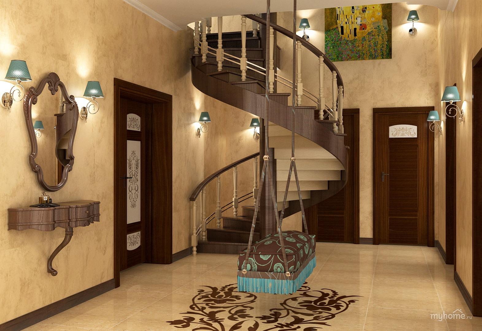 Дизайн коридора частном доме