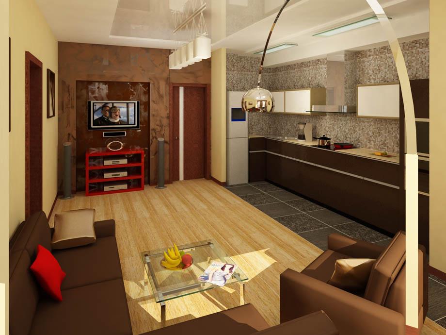 Дизайн и интерьер однокомнатной квартиры-студии