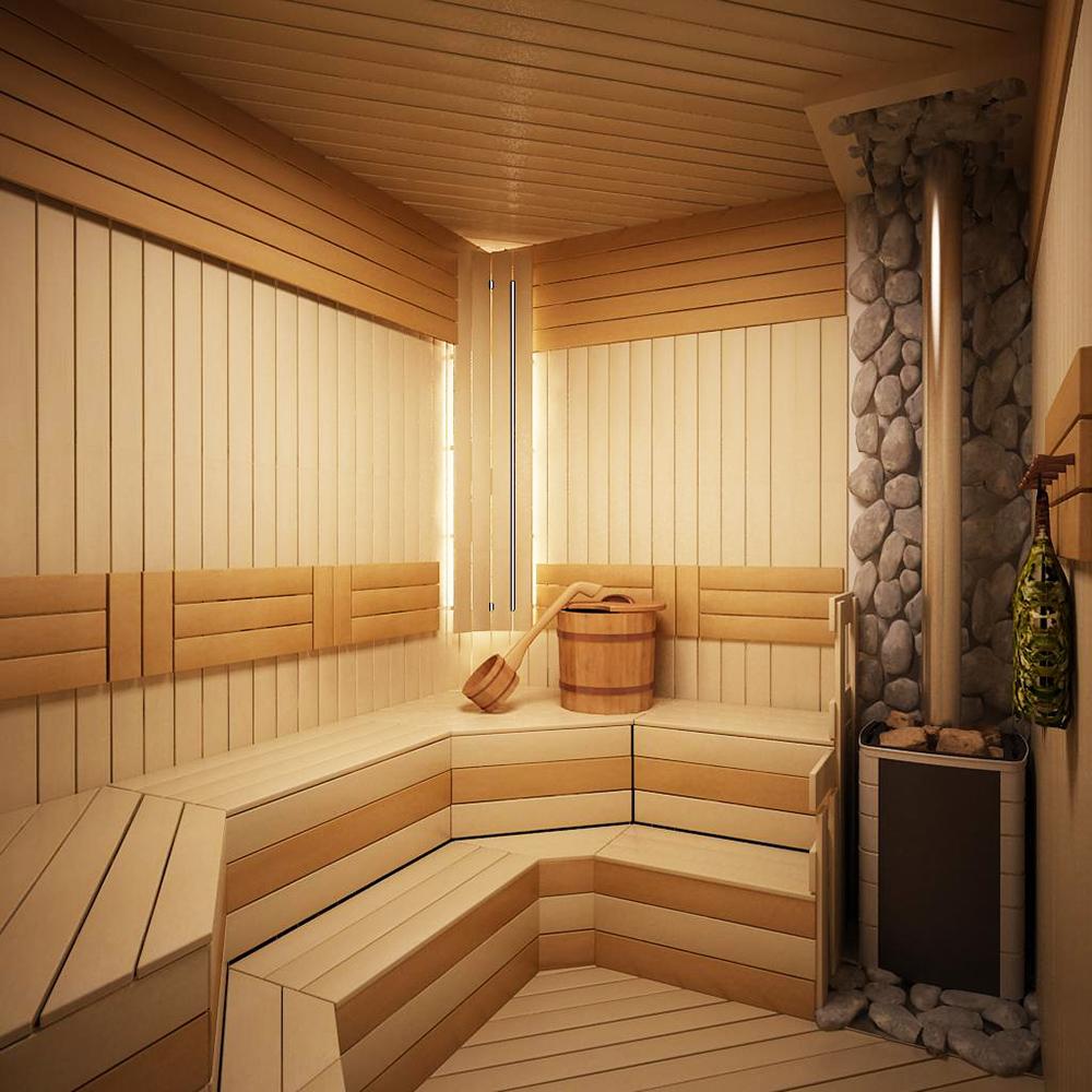 Установка окон в срубе бани с помощью обсадных коробок