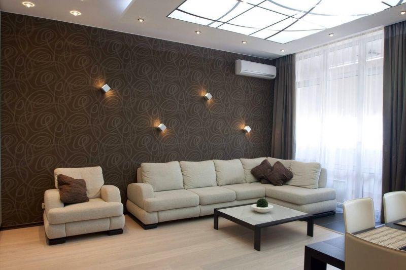 Дизайн комнаты в шоколадно бежевых тонах