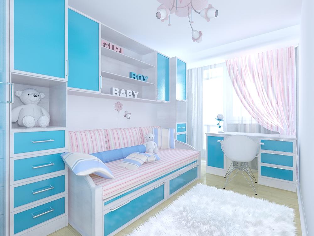 Детская комната для девочки 9 кв.м дизайн