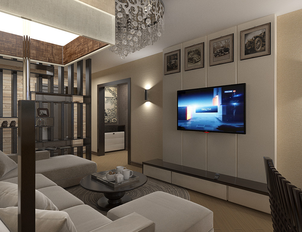 Дизайн однокомнатной квартиры студии 45 квм