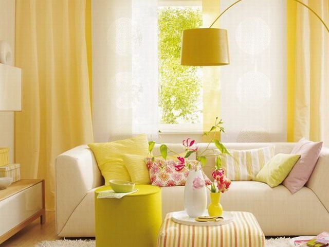 Дизайн в бежево желтых тонах
