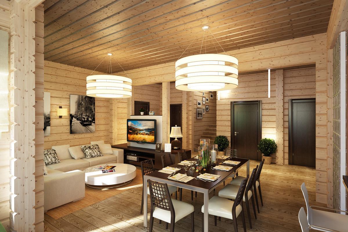 Дизайн для дома из бруса