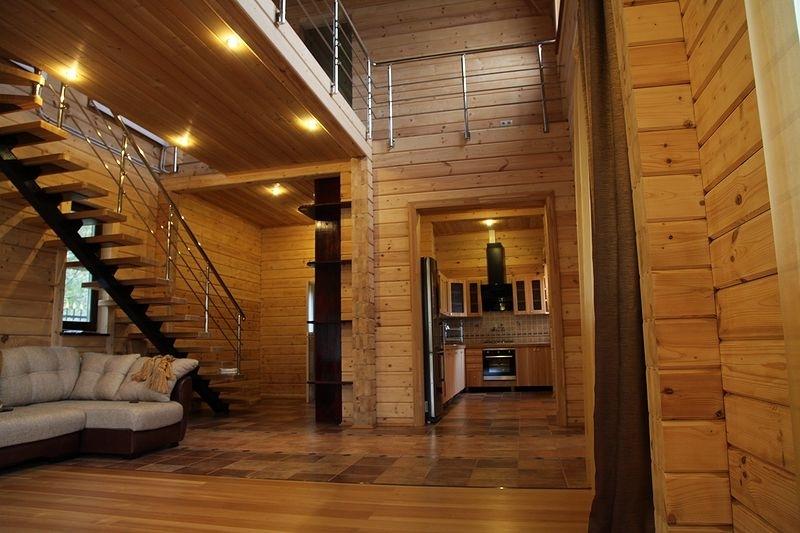 Дом из клееного бруса дизайн внутри