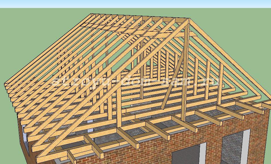 Строительство крыши двускатной