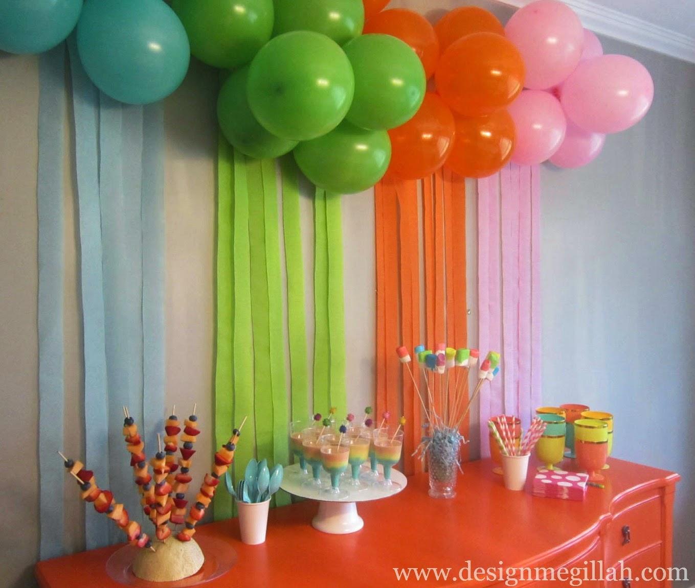 Украшения помещения ко дню рождения своими руками