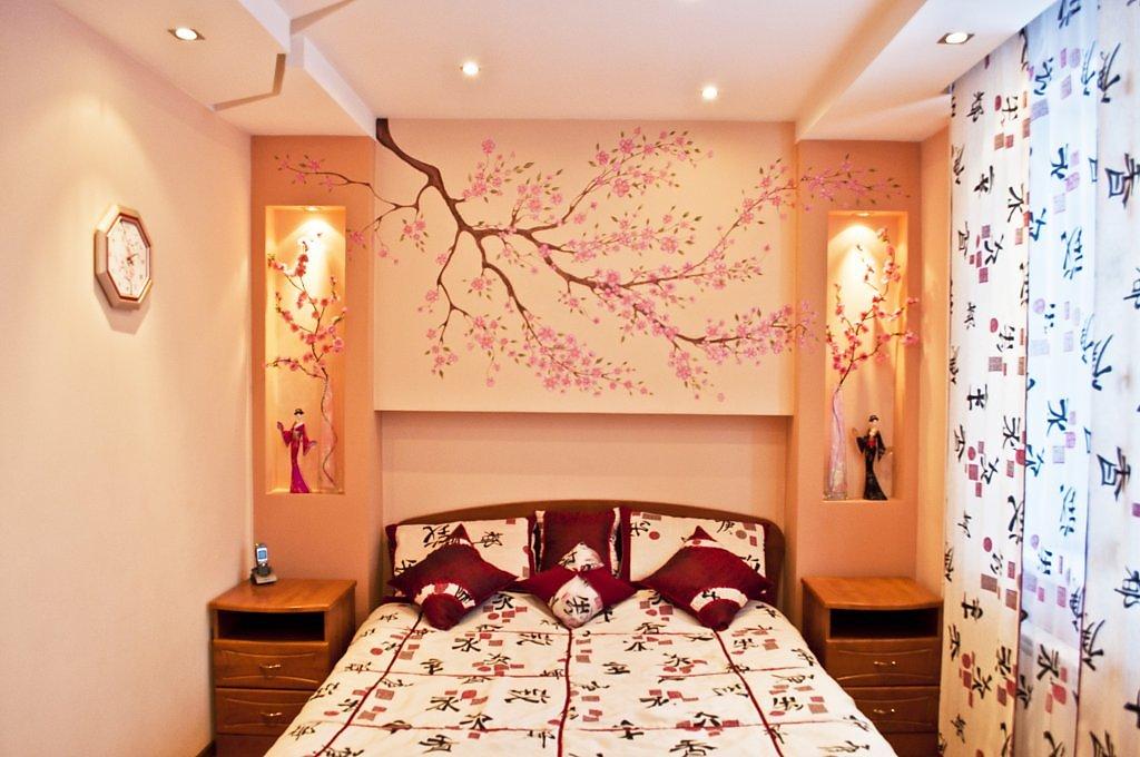 Полки в спальне из гипсокартона своими руками