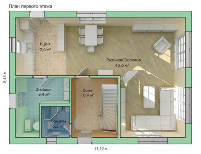 Как сделать 3д план комнаты